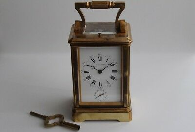 Henry Capt of Geneve, Sonnerie Striker Alarm Carriage Clock, ca. 1890