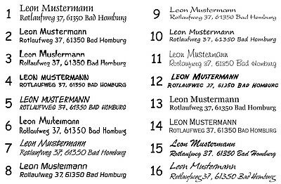 Adressstempel Colop R 40 Kinder Stempel rund Ø 40 mm Motiv Schmetterling 3