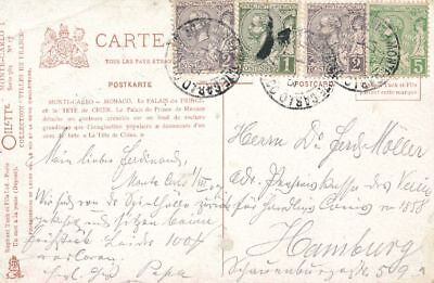 AK, Grafik, Monaco - le palais du prince et la tête du chien, 1907; 5026-105
