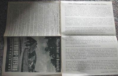 1955 Wanderkarte Altenberg Geising 1:25000 Phönix Landkarte *7760