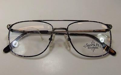 NOS 90s Retro Pewter Granite Santa Fe Eyeworks VTG Metal Eyeglass Frame Japan 52