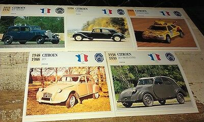 CITROEN  Cars  Colour Collector Cards x 13