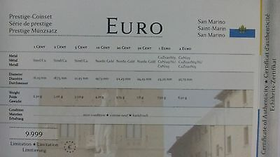 KMS SAN MARINO versch. Jahrg. (Euro Prestige Coinset) im Hart-Cover ...