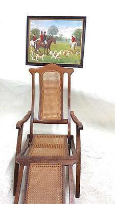 2 Of 6 Antique Folding Luxury Wood Steamer Deck Chair, Circa 1890, England