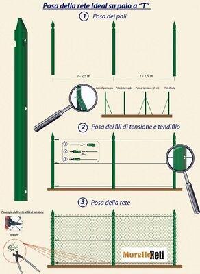 Paletti In Ferro  Plastificati  Verdi  Per Recinzione Confezioni Da 10 Pezzi.