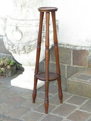 Vintage Exhibitor a 3 Columns Holder Statue or Vase Wooden Height 37 13/16in 8