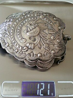 150 Years Old ANTIQUE OTTOMAN SILVER belt buckle WITH SULTAN ABDUL AZIZ TUGRA 11