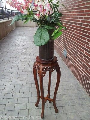 Soporte florero madera Decoracion Mueble Podium Jarron Columna Rinconera Peana