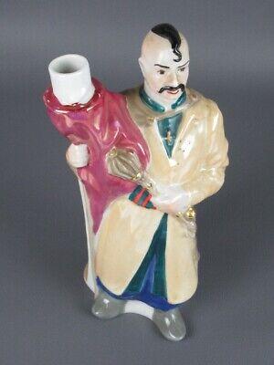 Vintage Botella Florero Figura Estatua Hombre Cerámica Pintado Xx Sec 6