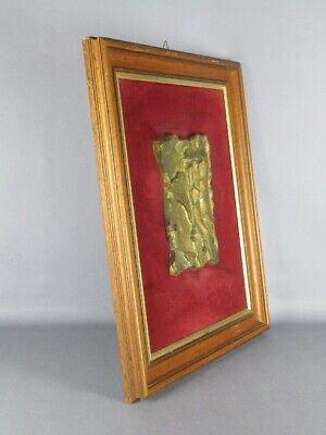 Le Ombre 1990 Escultura Fundición Bronce Firmada con Marco de la Velour Madera 5