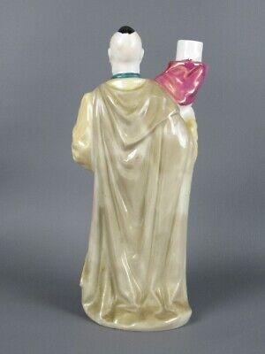 Vintage Botella Florero Figura Estatua Hombre Cerámica Pintado Xx Sec 3