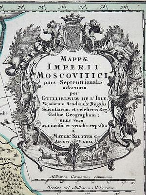Mappae Imperii Moscovitici Pars Septentrionalis Russland Lappland Seutter 1720