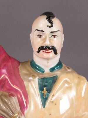 Vintage Botella Florero Figura Estatua Hombre Cerámica Pintado Xx Sec 5