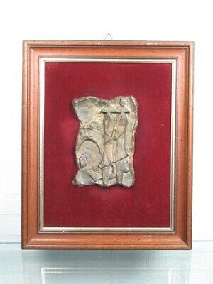 Le Ombre 1990 Escultura Fundición Bronce Firmada con Marco de la Velour Madera 9