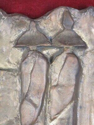 Le Ombre 1990 Escultura Fundición Bronce Firmada con Marco de la Velour Madera 2