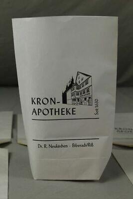 100 x alte Papiertüte / Verkaufstüte - Kron Apotheke Biberach an der Riß /S17 8
