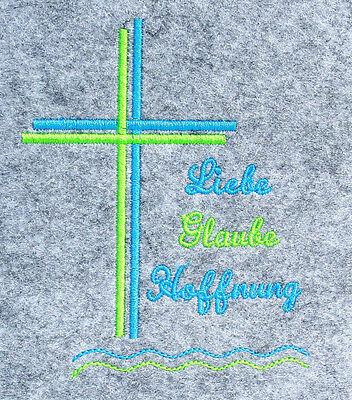 Gotteslob Hülle Filz Kreuz Glaube Hoffnung 1  Kommunion Firmung Religion Kirche