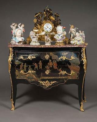 19th Century French Louis XV Style Gilt Bronze Mounted Chinoiserie Commode