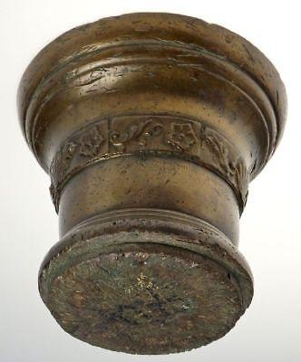 Gigantischer Bronze Mörser Ornamente Pistil Schöne Patina England Um 1600 13 Kg 6