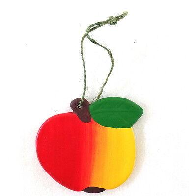 Äpfel Keramik Ton Box 24 Stück 6,5 D. Aufhängung Dekoration