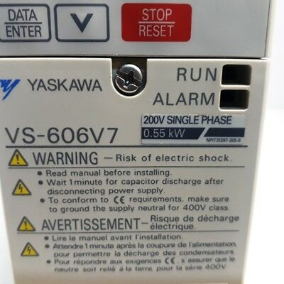 Yaskawa VS-606V7 220V 0.55KW Inverter 4