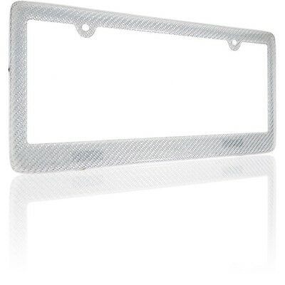 REAL 100/% CARBON FIBER LICENSE PLATE FRAME TAG COVER ORIGINAL 3K TWILL JDM //FF B