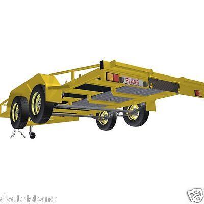 Trailer Plans    -    2500kg FLATBED CAR TRAILER PLANS    -    PRINTED HARDCOPY 3