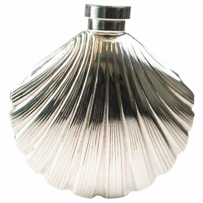 Glam Tiffany & Co Sterling Silver Shell Perfume Bottle Calla Lily Extremely Rare 10