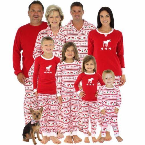 6 Styles Family Christmas Pajamas Set Xmas Matching Pyjamas