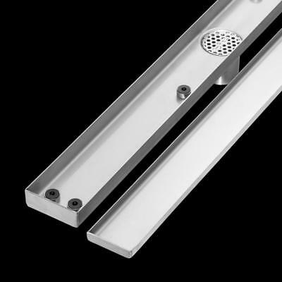 "Tile Insert Stainless Steel Linear Shower Bathroom Grate Drain Waste ""2mm thick"" 4"