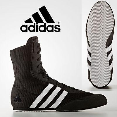 New Adidas Box Hog 2 Kids & Mens Black Hi Boxing Boots Trainer Shoes rrp £70