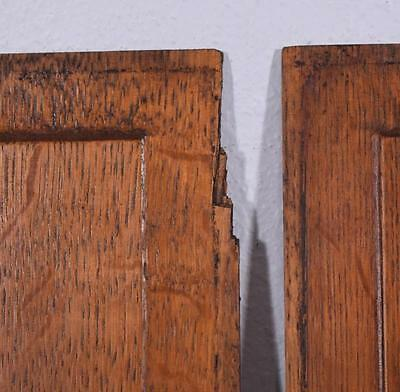 *Pair of Antique French Inlaid Marquetry Solid Oak Panels with Urns 8