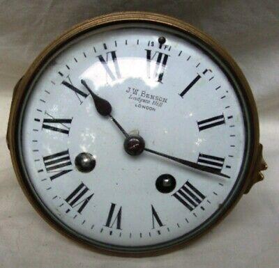 A  J. W. Benson Mahogany, Striking Mantel Clock. 3