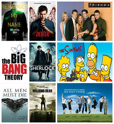 BEST TV SERIES POSTERS, High Quality Glossy Prints A3 A4 Size Tv Show Posters 2