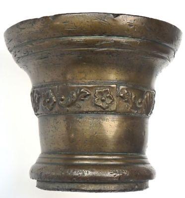 Gigantischer Bronze Mörser Ornamente Pistil Schöne Patina England Um 1600 13 Kg 7