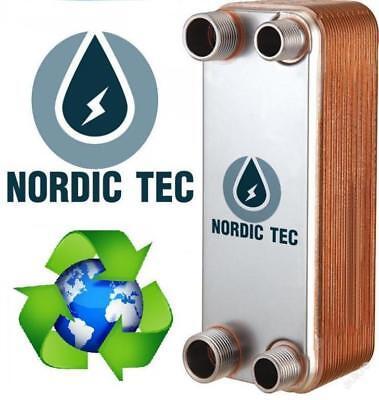 SCAMBIATORE di calore a Piastre NORDIC TEC 1' DN25 INOX 100-175kW + ISOLAMENTO 8