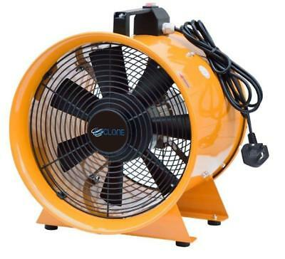 "10"" 250Mm Cyclone Dust Fume Extractor / Ventilation Fan + 5M Pvc Ducting 5"
