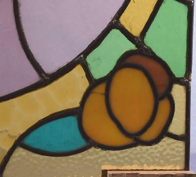 *Antique French Stained Glass Panel with Leaded Glass 3