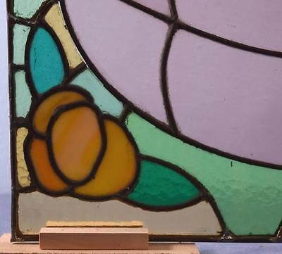 *Antique French Stained Glass Panel with Leaded Glass 4