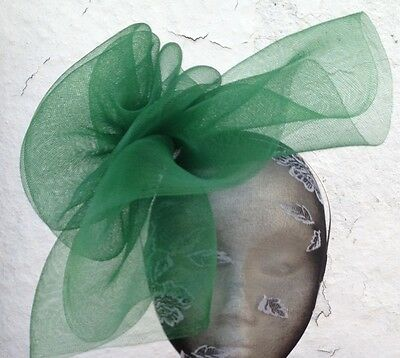 green fascinator millinery burlesque wedding hat ascot race bridal party hair 2