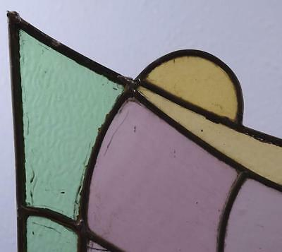 *Antique French Stained Glass Panel with Leaded Glass 5