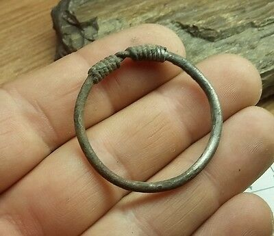 Ancient Celtic Silver Coiled Big  Ring   #2266 3