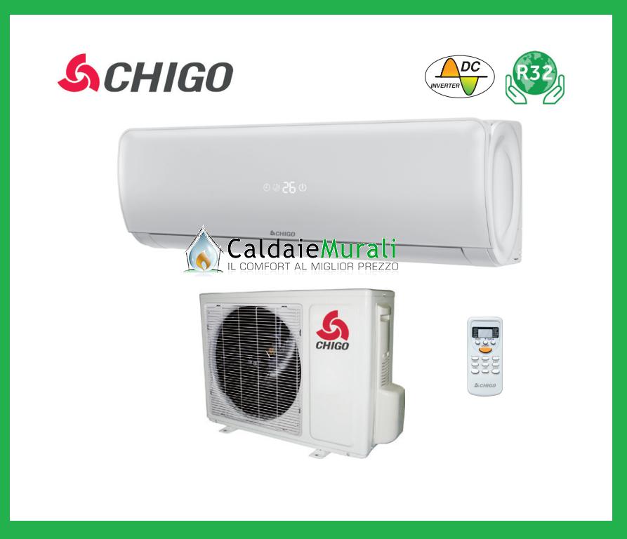 Climatizzatore Condizionatore Chigo Inverter Amber R32 12000 Btu Cs-35V3G-1C173A 3