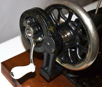 19c FRISTER & ROSSMANN Mother of Pearl Hand Crank Sewing Machine [PL2278] 6