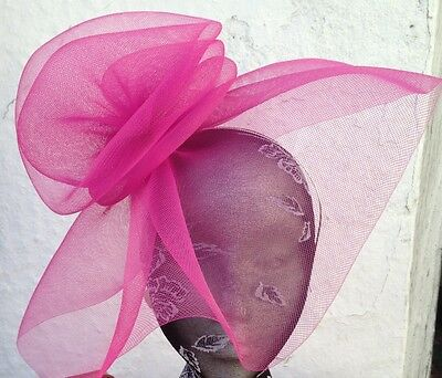 pink fascinator millinery burlesque wedding hat hair piece ascot race bridal x 3
