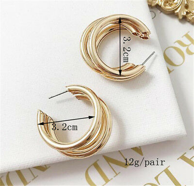 2018 Fashion Large Circle Geometry Metal Earring Ear Stud Earrings Women Jewelry 12