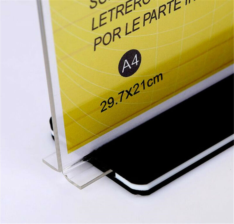 10pcs DL A4 Double Sided Sign Holder Acrylic Retail Display Stands Menu Holder 9