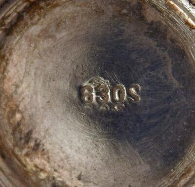 Set of three neo rococo sugar castors in silver (830S). Northern Europe 6