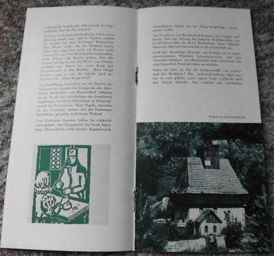 1960 OEDERAN Kleinerzgebirge Werbeheft Sachsen *7832