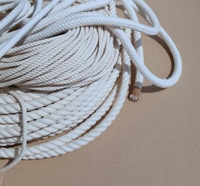 Seil Baumwolle Wäscheleine  gedreht geflochten, 12 mm, Natur (beige), Fesselseil